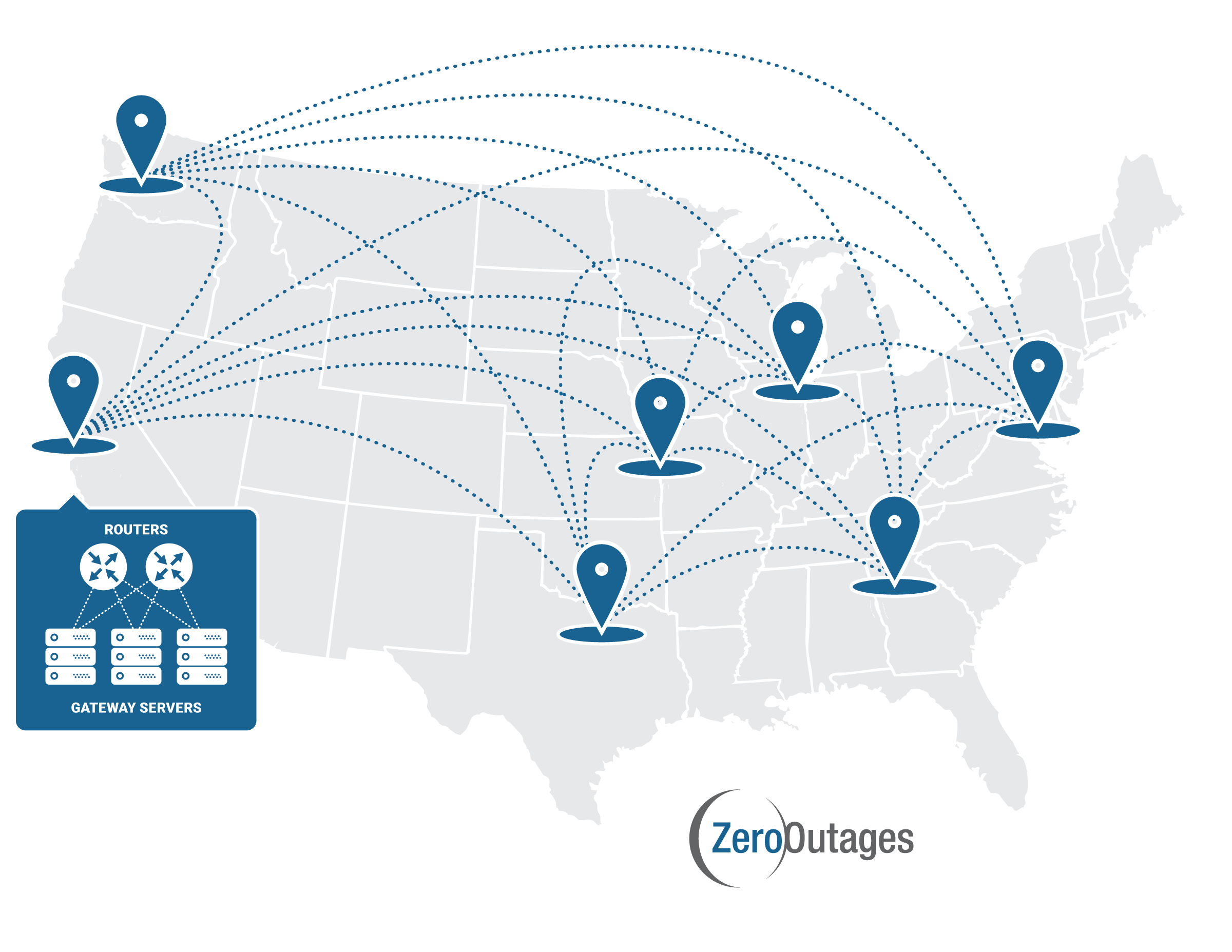ZeroOutages Data Center Map